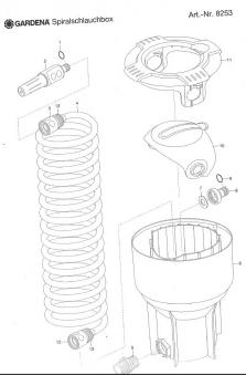 GARDENA Klemmutter / Ersatzteil zu Spiralschlauchbox - Spiralschlauch
