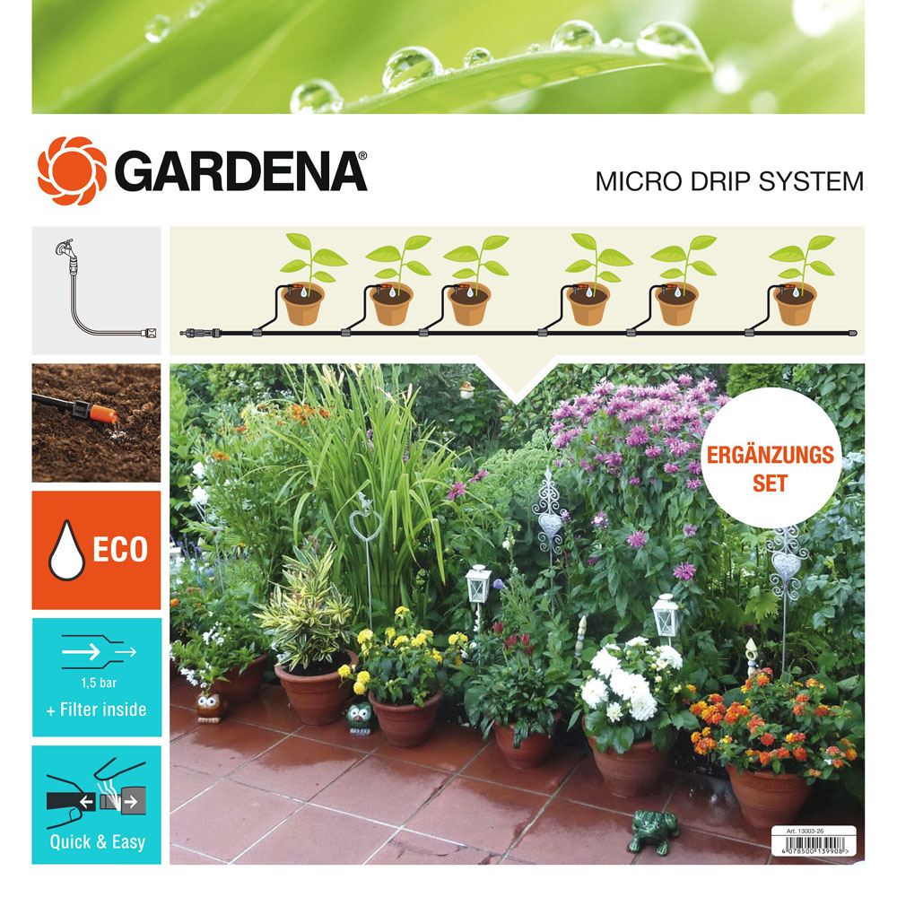 GARDENA Micro-Drip-System Erweiterungsset Pflanztöpfe 13005-20 Bild 1