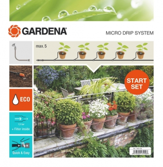 GARDENA Micro-Drip-System Start-Set Pflanztöpfe S 13000-32 Bild 1