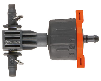 GARDENA Mirco-Drip-System regulierbarer Reihentropfer 08317-20 Bild 1